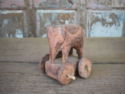 old tribal elephant on wheels, south india <b>SOLD<b>